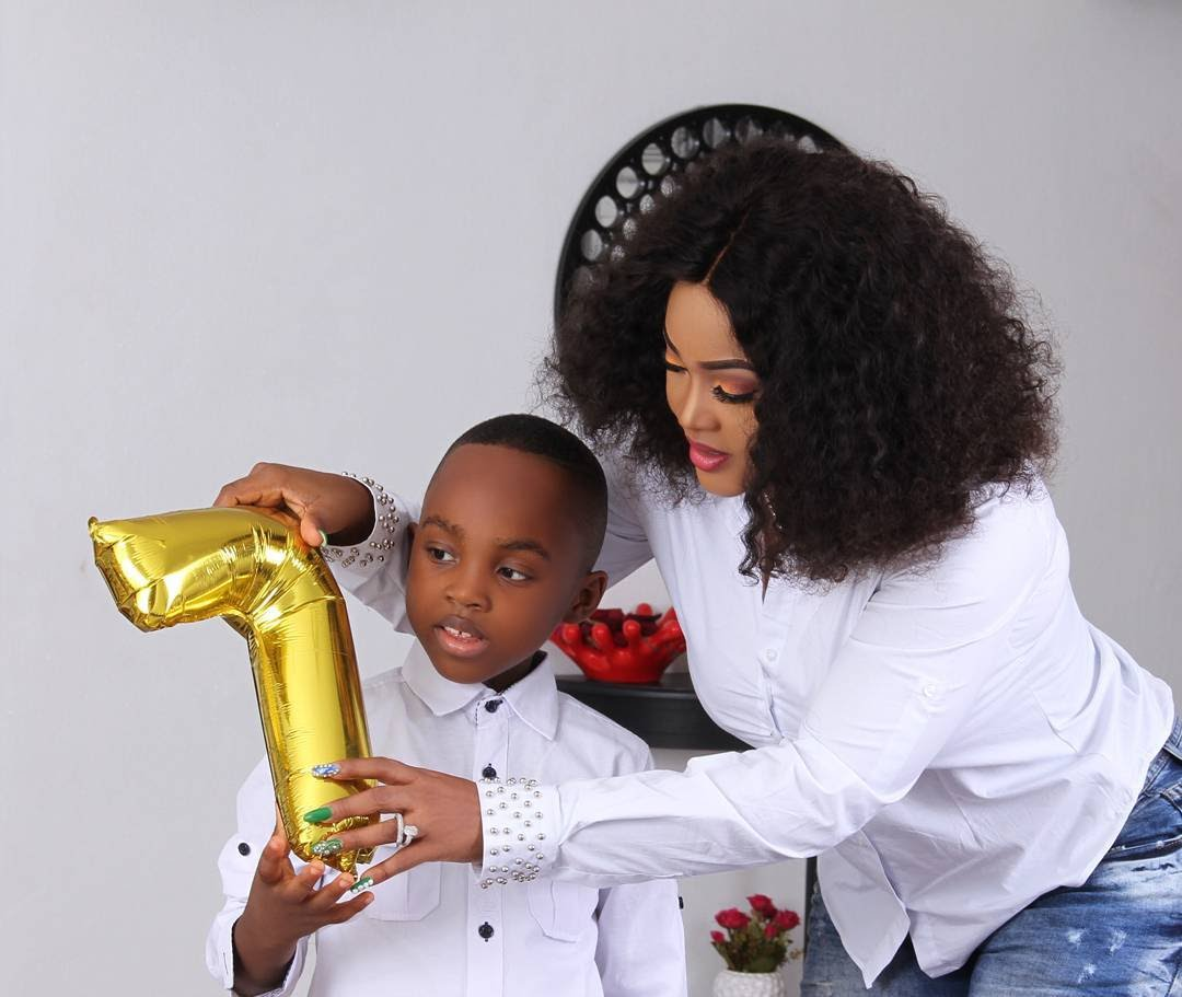 Mercy Aigbe Celebrates Son As He Turns 7